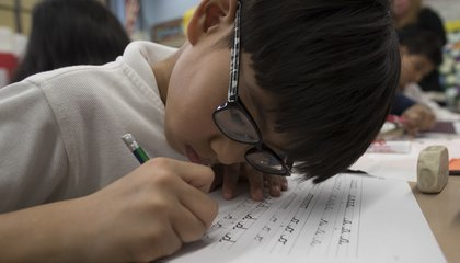 Image: Flip the script: Cursive sees revival in school instruction