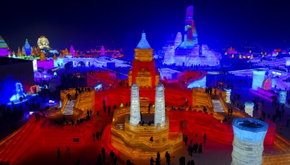 Image: Frigid northern China hosts snow and ice sculpture festival