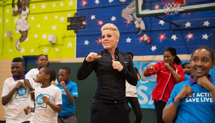 Image: Pink joins fight to end child malnutrition
