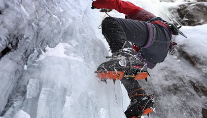 Image: Would you climb a frozen waterfall?