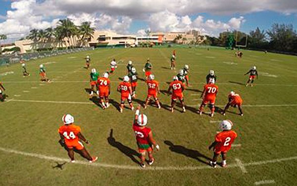Colleges use drones to help football players