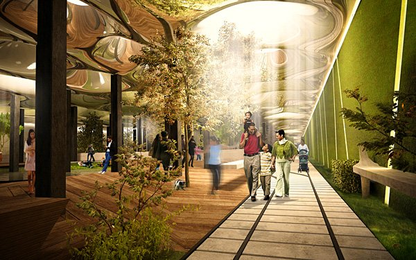 Would you play in a park underground?