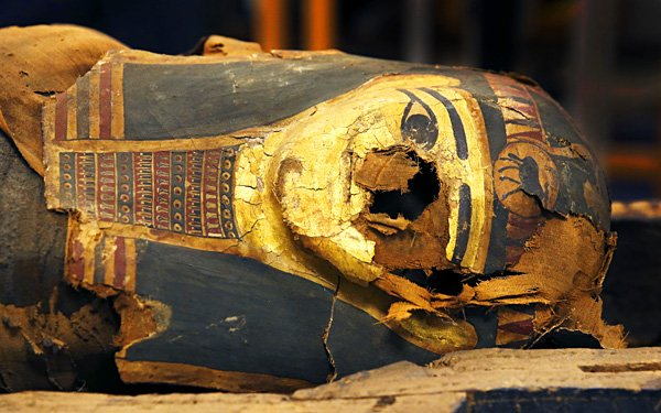 Scientist opens mummy coffin, finds more than dust